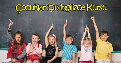 Çocuklar İçin İngilizce Kursu 6 Ekim'de Başlıyor
